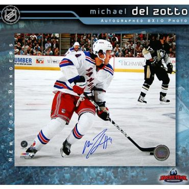 Michael Del Zotto New York Rangers 8 x 10 Autographed Photo