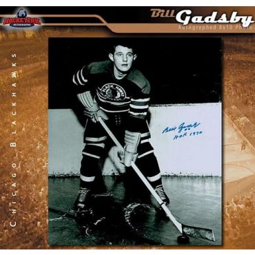 Bill Gadsby Chicago Blackhawks Autographed 8 x 10 Photo