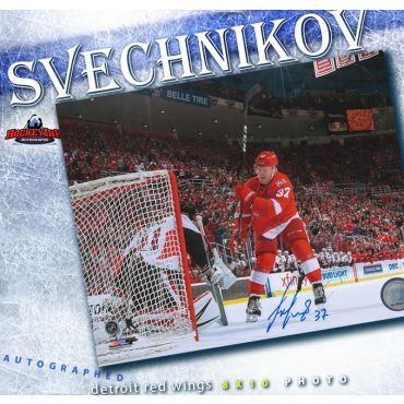 Evgeny Svechnikov Autographed Detroit Red Wings 8 x 10 Photo