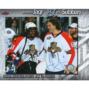 Jaromir Jagr and P.K. Subban Dual Autographed 2016 NHL All Star Game 8 x 10 Photo