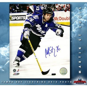 Martin St Louis Tampa Bay Lightning Autographed 8 x 10 Photo