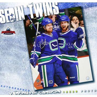 Daniel and Henrik Sedin Vancouver Canucks Autographed 16 x 20 Photograph