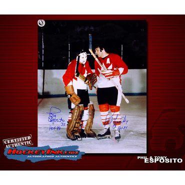 Tony and Phil Esposito Team Canada 16 x 20 Autographed Photo