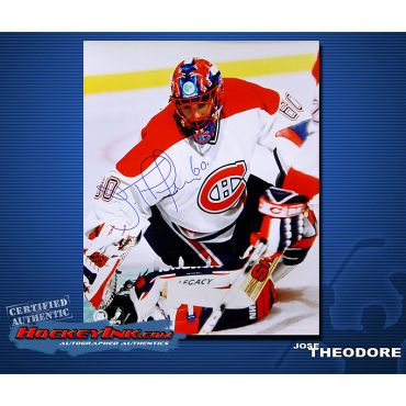 Jose Theodore  Montreal Canadiens 16 x 20 Autographed Photo