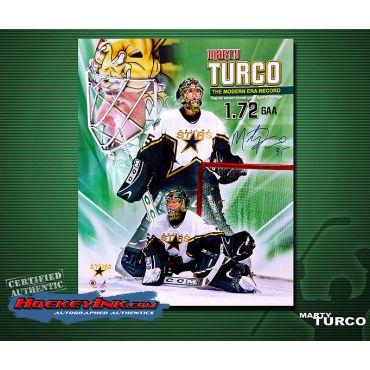 Marty Turco  16 x 20 Autographed Photo
