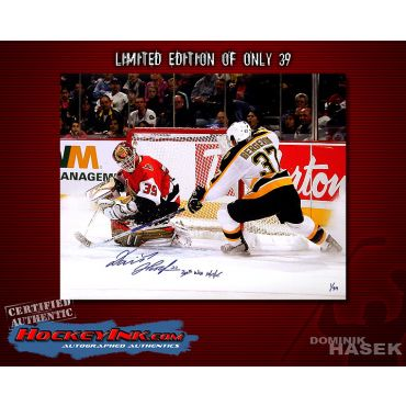 Dominik Hasek Ottowa Senators Limited Edition 16 x 20 Autographed Photo