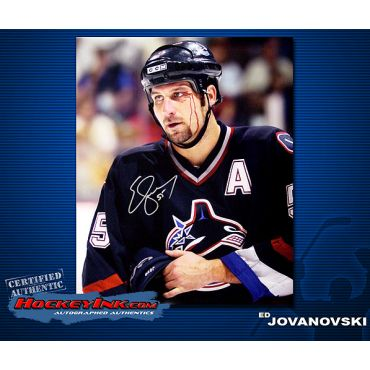 Ed Jovanovski Vancouver Canucks 16 x 20 Autographed Photo