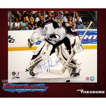 Jose Theodore Colorado Avalanche 16 x 20 Autographed Photo