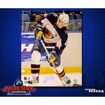 Marian Hossa Atlanta Thrashers 16 x 20 Autographed Photo