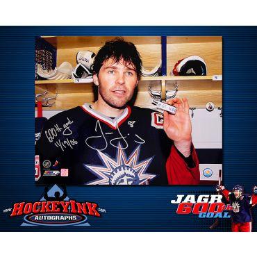 Jaromir Jagr 600th Goal 16 x 20 Autographed Photo