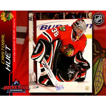 Cristobal Huet Chicago Blackhawks 16 x 20 Autographed Photo