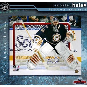 Jaroslav Halak St. Louis Blues 16 x 20 Autographed Photo
