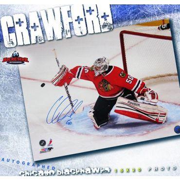Corey Crawford Chicago Blackhawks 16 x 20 Autographed Photo