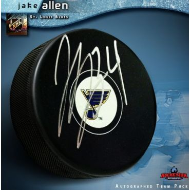 Jake Allen St Louis Blues Autographed Hockey Puck