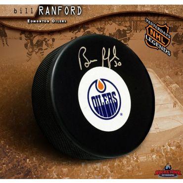Bill Ranford Edmonton Oilers Autographed Hockey Puck