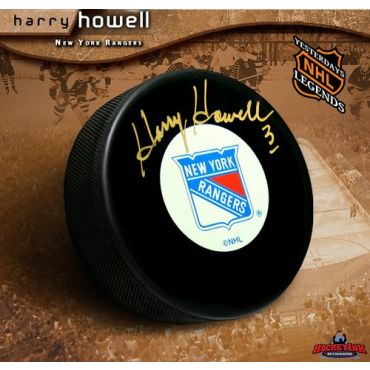 Harry Howell New York Rangers Autographed Hockey Puck