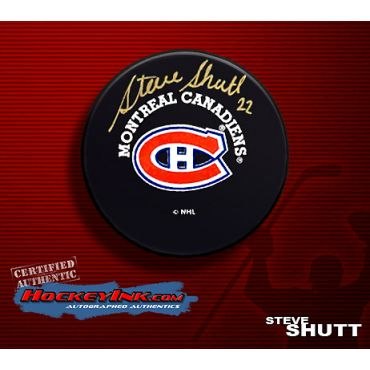 Steve Shutt Montreal Canadiens Autographed Hockey Puck