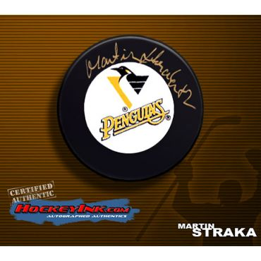 Martin Straka Pittsburgh Penguins Autographed Hockey Puck