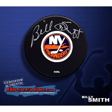 Billy Smith Autographed Hockey Puck
