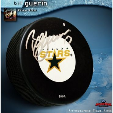 Bill Guerin Autographed Dallas Stars Hockey Puck