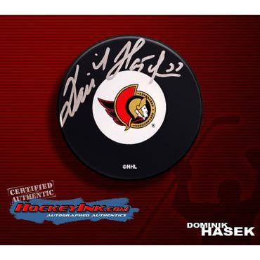 Dominik Hasek Autographed Ottowa Senators Hockey Puck