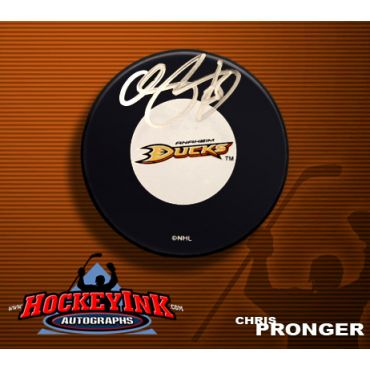 Chris Pronger Anaheim Ducks Autographed Hockey Puck