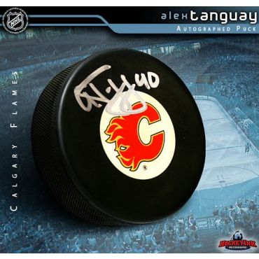 Alex Tanguay Calgary Flames Autographed Hockey Puck