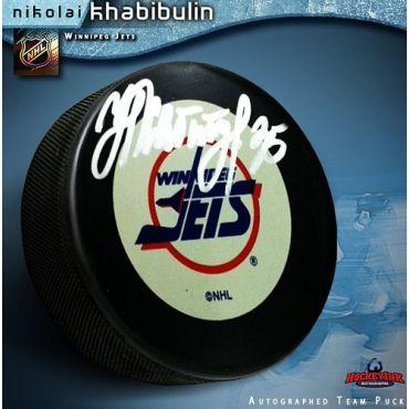 Nikolai Khabibulin Winnipeg Jets Autographed Hockey Puck