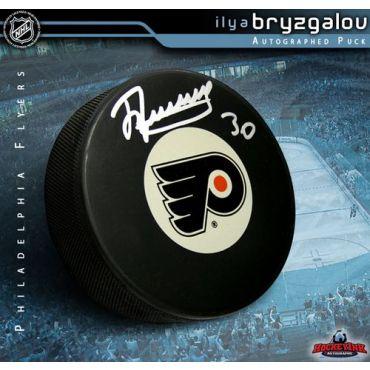 Ilya Bryzgalov Philadelphia Flyers Autographed Hockey Puck
