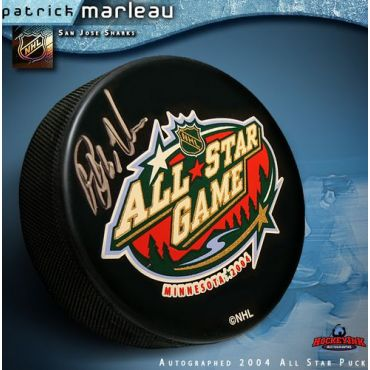 Patrick Marleau 2004 All Star Game Autographed Hockey Puck