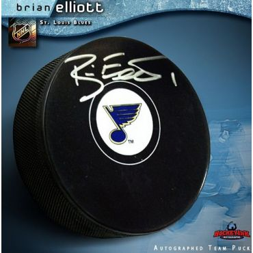 Brian Elliott St. Louis Blues Autographed Hockey Puck