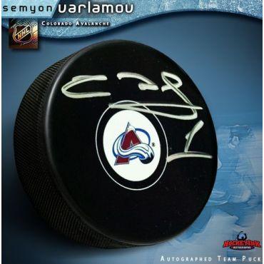 Semyon Varlamov Colorado Avalanche Autographed Hockey Puck