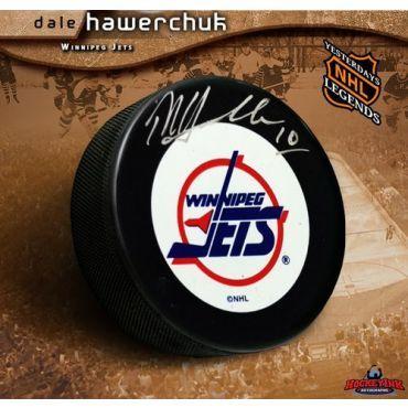 Dale Hawerchuk Winnipeg Jets Autographed Hockey Puck