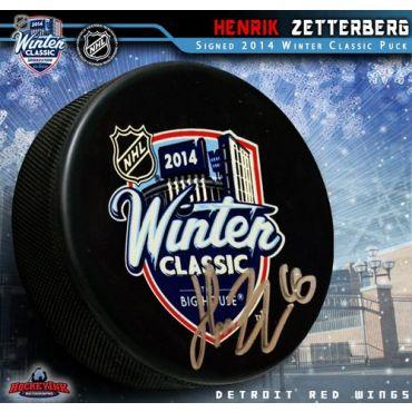 Henrik Zetterberg 2014 Winter Classic Autographed Hockey Puck