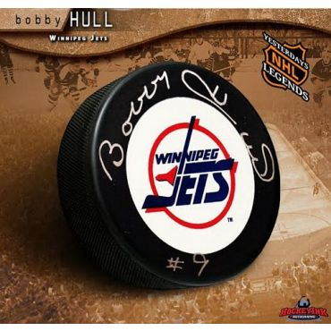 Bobby Hull Winnipeg Jets Autographed Hockey Puck