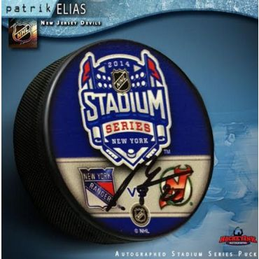 Patrik Elias New Jersey Devils 2014 Stadium Series Autographed Hockey Puck
