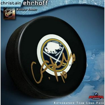Christian Erhoff Buffalo Sabres Autographed Hockey Puck