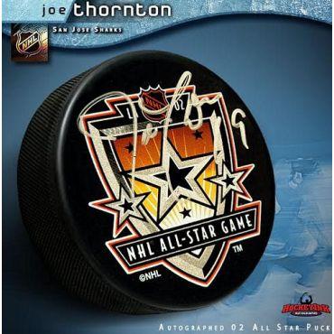 Joe Thornton 2002 All Star Game Autographed Hockey Puck