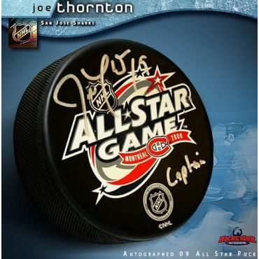Joe Thornton 2009 All Star Game Autographed Hockey Puck