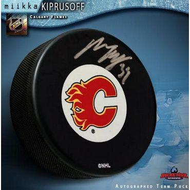 Miikka Kiprusoff Calgary Flames Autographed Hockey Puck