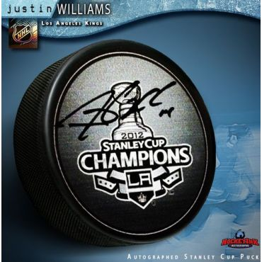 Justin Williams Los Angeles Kings 2012 Stanely Cup Autographed Hockey Puck