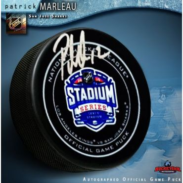 Patrick Marleau San Jose Sharks Autographed Stadium Series 2015 Official Game Hockey Puck
