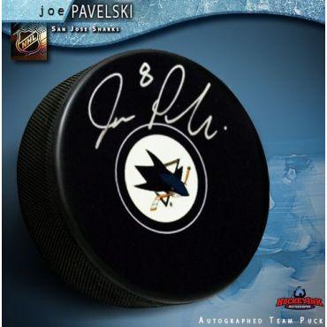 Joe Pavelski San Jose Sharks Autographed Hockey Puck