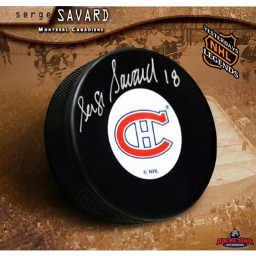 Serge Savard Montreal Canadiens Autographed Hockey Puck