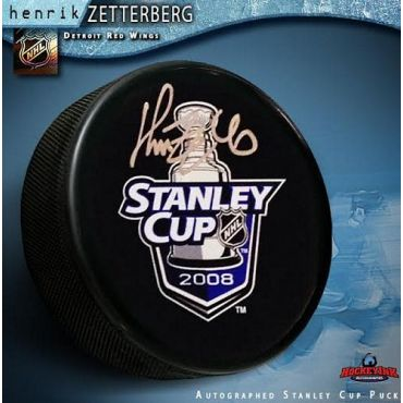 Henrik Zetterberg Detroit Red Wings Autographed 2008 Stanley Cup Champions Puck