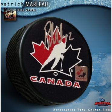 Patrick Marleau Team Canada Autographed Hockey Puck