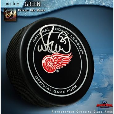 Mike Green Detroit Red Wings Autographed Official Game Hockey Puck