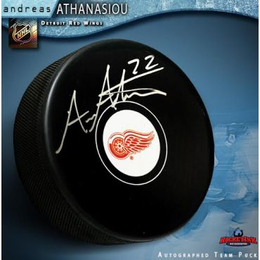 Andreas Athanasiou Detroit Red Wings Autographed Hockey Puck
