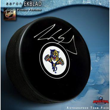Aaron Ekblad Autographed Florida Panthers Hockey Puck