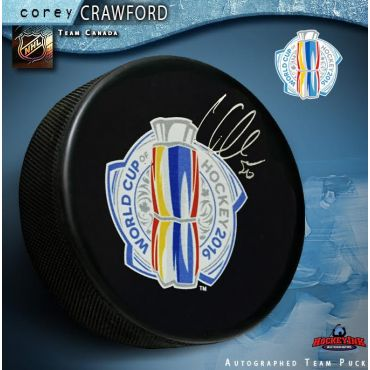 Corey Crawford 2016 World Cup of Hockey Autographed Puck